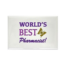 World's Best Pharmacist (Butterfly) Rectangle Magn