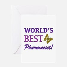 World's Best Pharmacist (Butterfly) Greeting Card