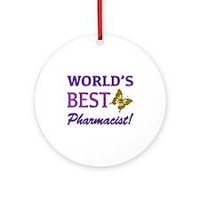 World's Best Pharmacist (Butterfly) Ornament (Roun