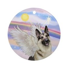 German Shepherd Angel Ornament (Round)