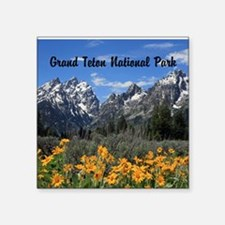 Personalizable Grand Tetons Souvenir Square Sticke
