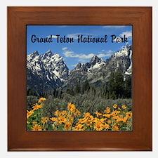 Personalizable Grand Tetons Souvenir Framed Tile