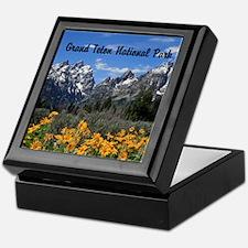 Personalizable Grand Tetons Souvenir Keepsake Box