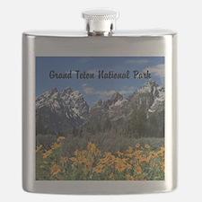 Personalizable Grand Tetons Souvenir Flask