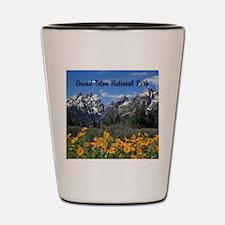 Personalizable Grand Tetons Souvenir Shot Glass