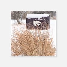 "Winter Mailbox Square Sticker 3"" x 3"""