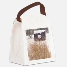 Winter Mailbox Canvas Lunch Bag