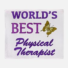 World's Best Physical Therapist (Butterfly) Throw