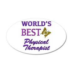 World's Best Physical Therapist (Butterfly) Wall Decal