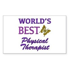 World's Best Physical Therapist (Butterfly) Sticke