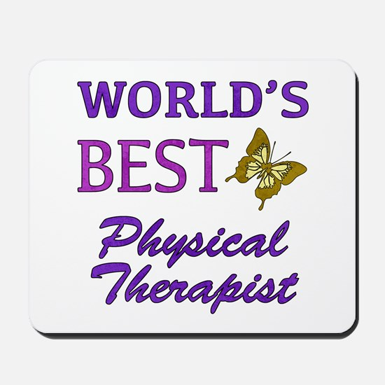 World's Best Physical Therapist (Butterfly) Mousep