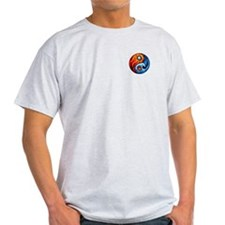 FIRE - WATER YIN - YANG Ash Grey T-Shirt