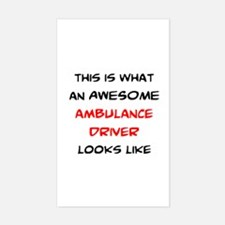 awesome ambulance Sticker (Rectangle)