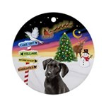 Xsigns-Black Lab Puppy (round) Round Ornament
