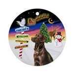 Xsigns-Choc Lab (round) Round Ornament