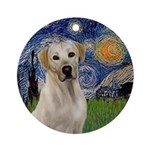 Famousart: Vangogh- Yellow Lab Round Ornament