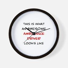 awesome ambulance Wall Clock