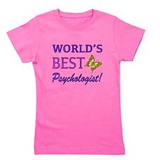 World's Best Psychologist (Butterfly) Girl's Tee