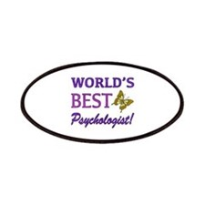 World's Best Psychologist (Butterfly) Patches