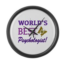 World's Best Psychologist (Butterfly) Large Wall C