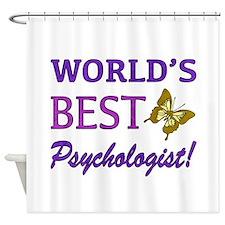 World's Best Psychologist (Butterfly) Shower Curta