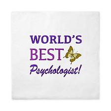 World's Best Psychologist (Butterfly) Queen Duvet