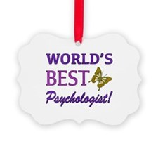 World's Best Psychologist (Butterfly) Ornament