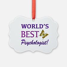 World's Best Psychologist (Butterfly) Ornament