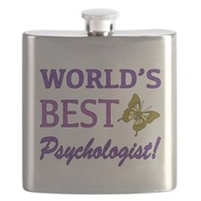 World's Best Psychologist (Butterfly) Flask