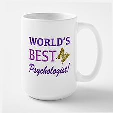 World's Best Psychologist (Butterfly) Large Mug
