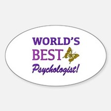 World's Best Psychologist (Butterfly) Decal