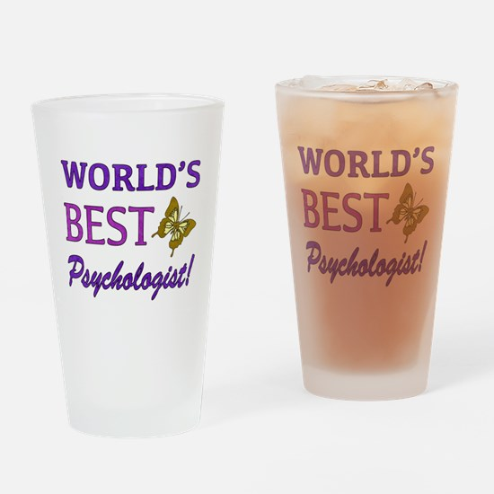World's Best Psychologist (Butterfly) Drinking Gla