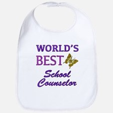 World's Best School Counselor (Butterfly) Bib