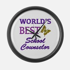 World's Best School Counselor (Butterfly) Large Wa