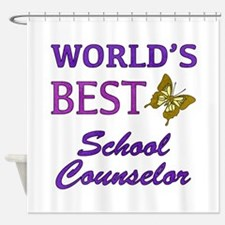 World's Best School Counselor (Butterfly) Shower C