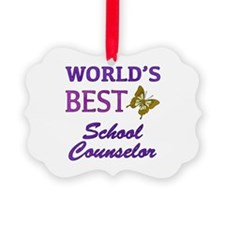 World's Best School Counselor (Butterfly) Ornament