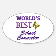 World's Best School Counselor (Butterfly) Decal