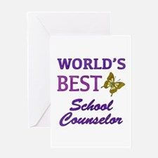 World's Best School Counselor (Butterfly) Greeting