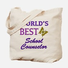 World's Best School Counselor (Butterfly) Tote Bag
