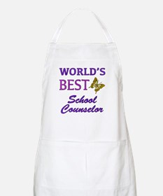 World's Best School Counselor (Butterfly) Apron
