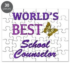 World's Best School Counselor (Butterfly) Puzzle