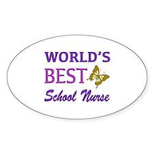 World's Best School Nurse (Butterfly) Decal