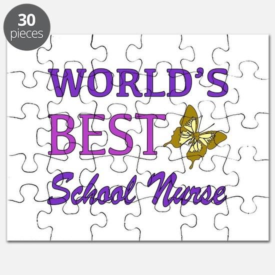 World's Best School Nurse (Butterfly) Puzzle