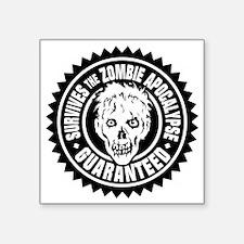"""Zombie Apolalypse Survivor Square Sticker 3"""" x 3"""""""