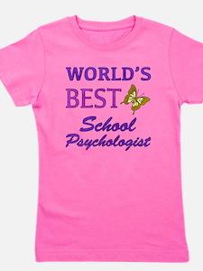 World's Best School Psychologist (Butterfly) Girl'