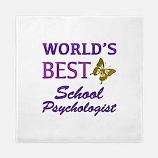 World's Best School Psychologist (Butterfly) Queen