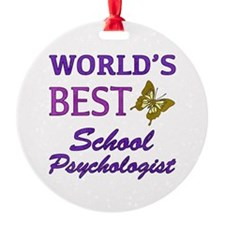 World's Best School Psychologist (Butterfly) Ornament