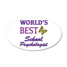World's Best School Psychologist (Butterfly) Wall Decal