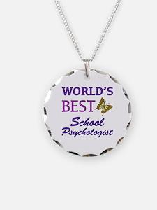 World's Best School Psychologist (Butterfly) Neckl