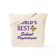 World's Best School Psychologist (Butterfly) Tote
